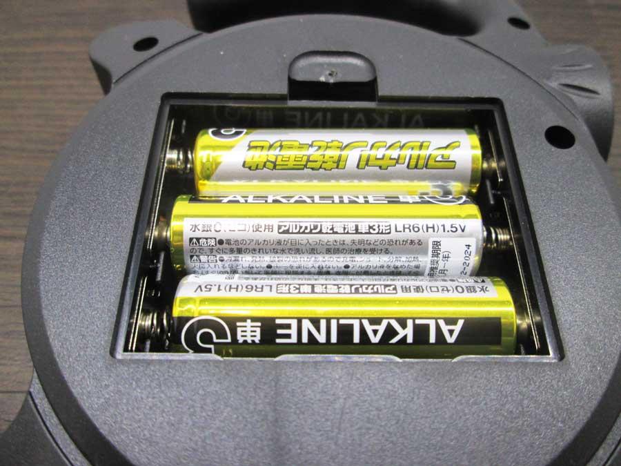 2WAY ハンディランタン 電池を入れたところ