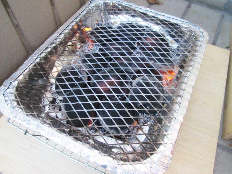 インスタントコンロ 炭火が安定
