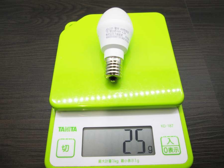 LEDミニ電球40W 本体 重さ
