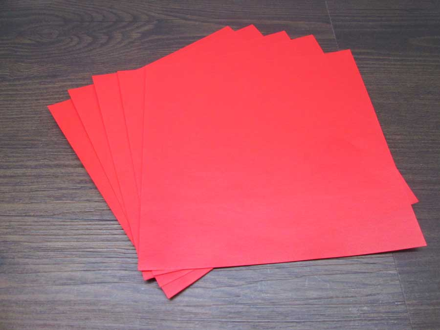 恐竜折り紙 折り紙 赤色