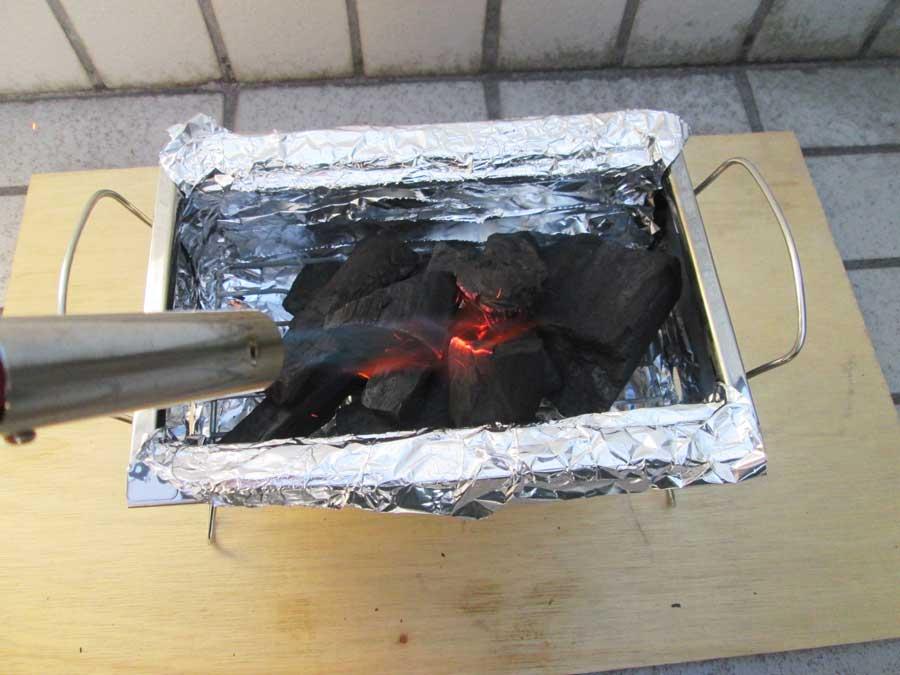 BBQ炭 炭 点火1