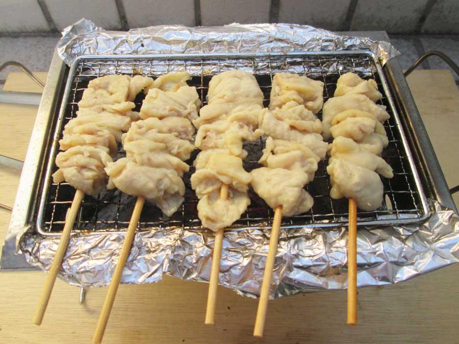 BBQ炭 焼き 鶏皮1
