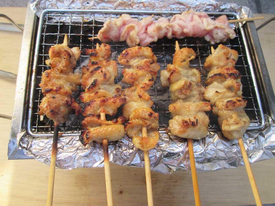 BBQ炭 焼き 鶏皮2
