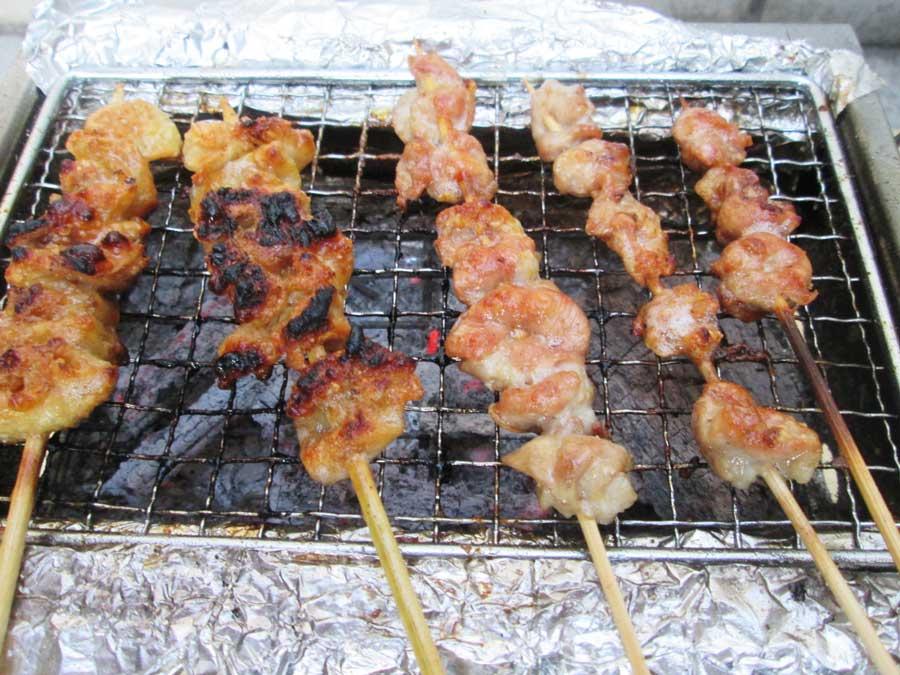 BBQ炭 焼き 鶏皮3