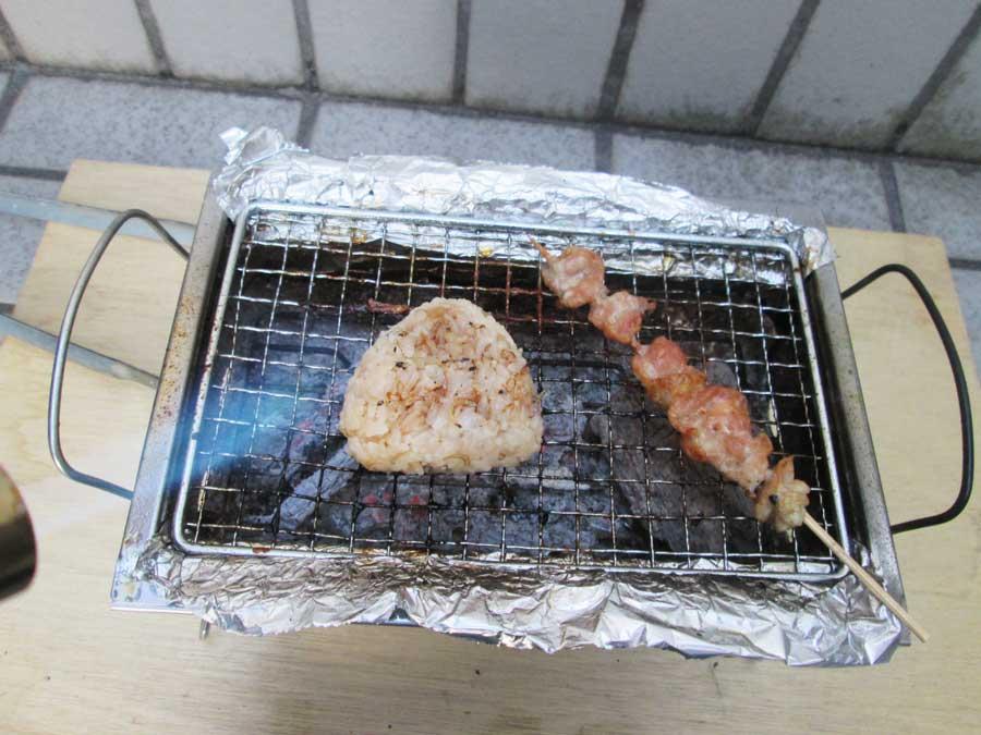 BBQ炭 焼き おにぎり1
