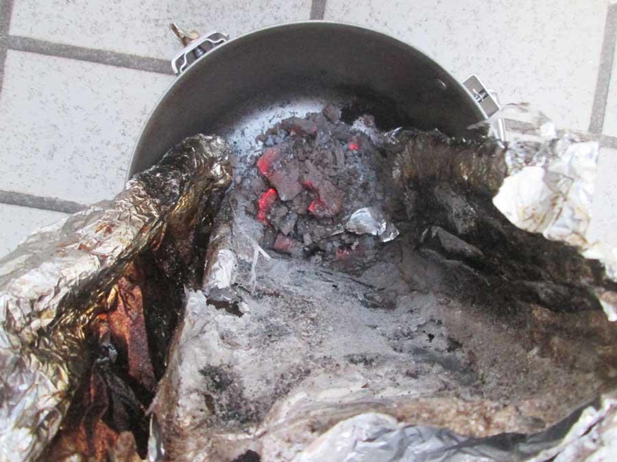 BBQ炭 焼き 終わり2