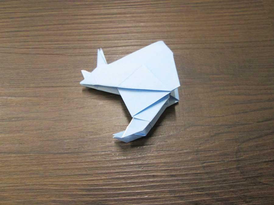 恐竜折り紙 トリケラトプス 頭22