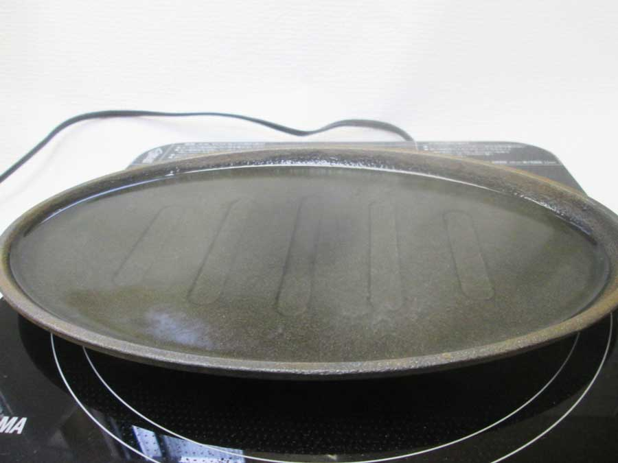 ラージステーキプレート シーズニング11