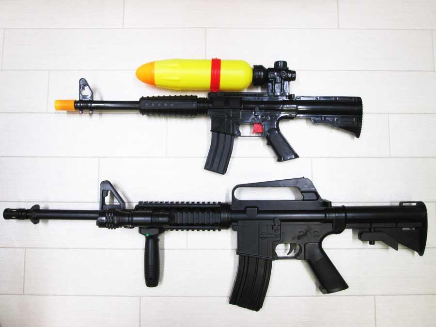 水鉄砲修理 DAISOとエアガン M4