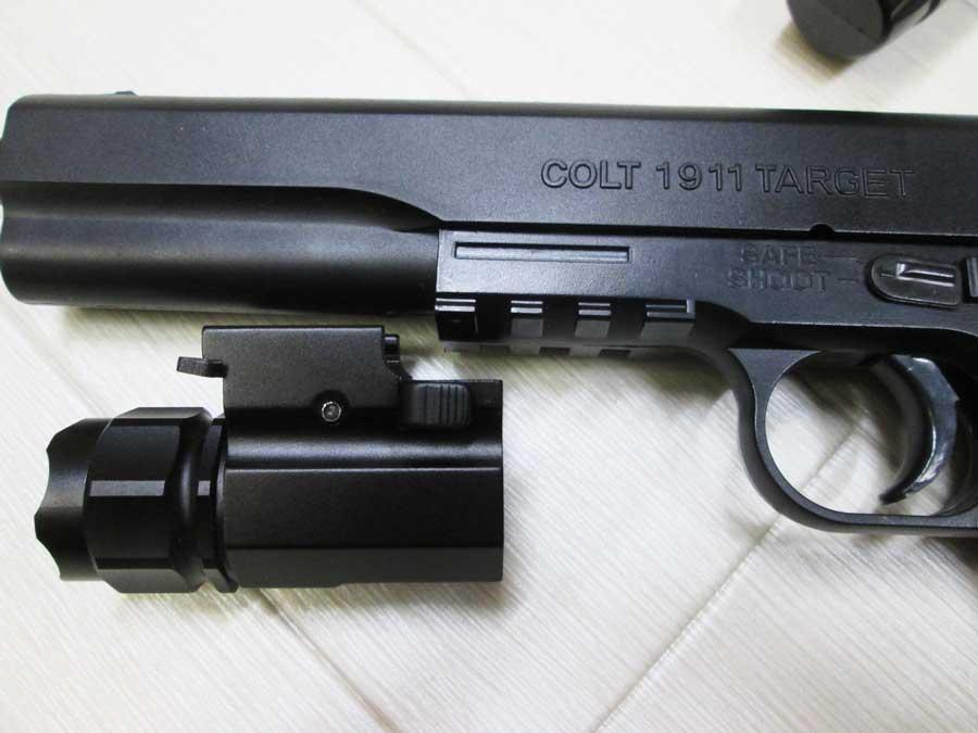 水鉄砲修理 エアガン M4セット 1911 ライト