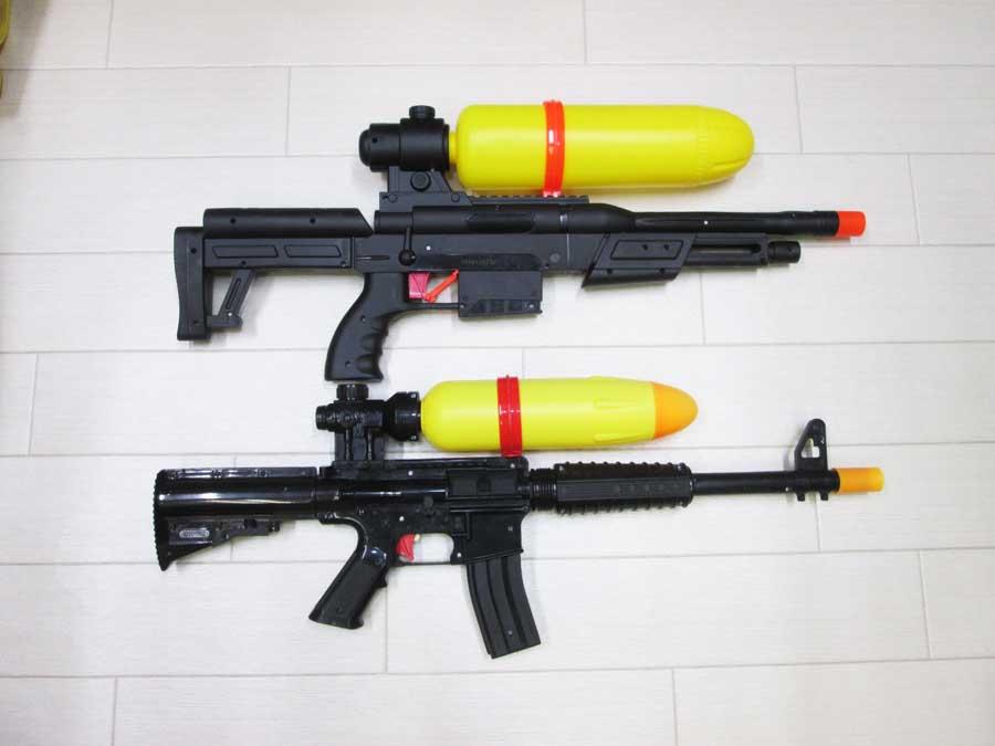 2020ライフル型水鉄砲 新旧比較1