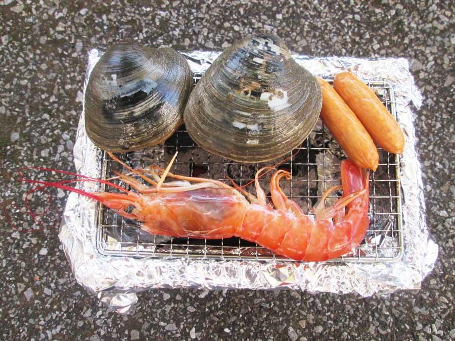 七輪用らくらく竹炭 食材1