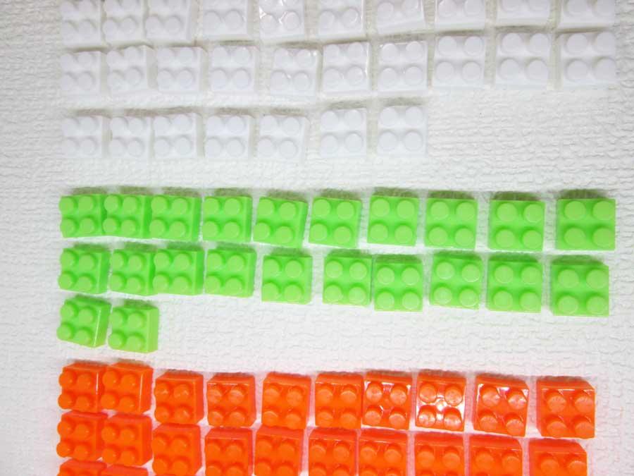 DAISO 300円 ブロック 2×2 緑色