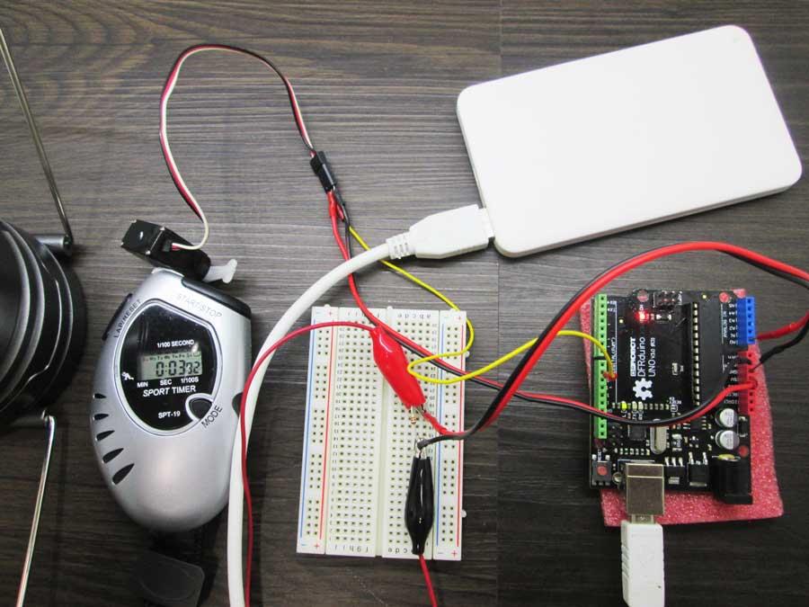 ダイソー 6SMD 伸縮ランタン 点灯実験1