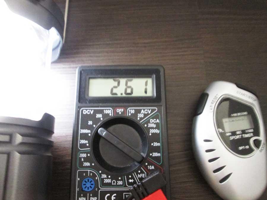 ダイソー 6SMD 伸縮ランタン 点灯実験15