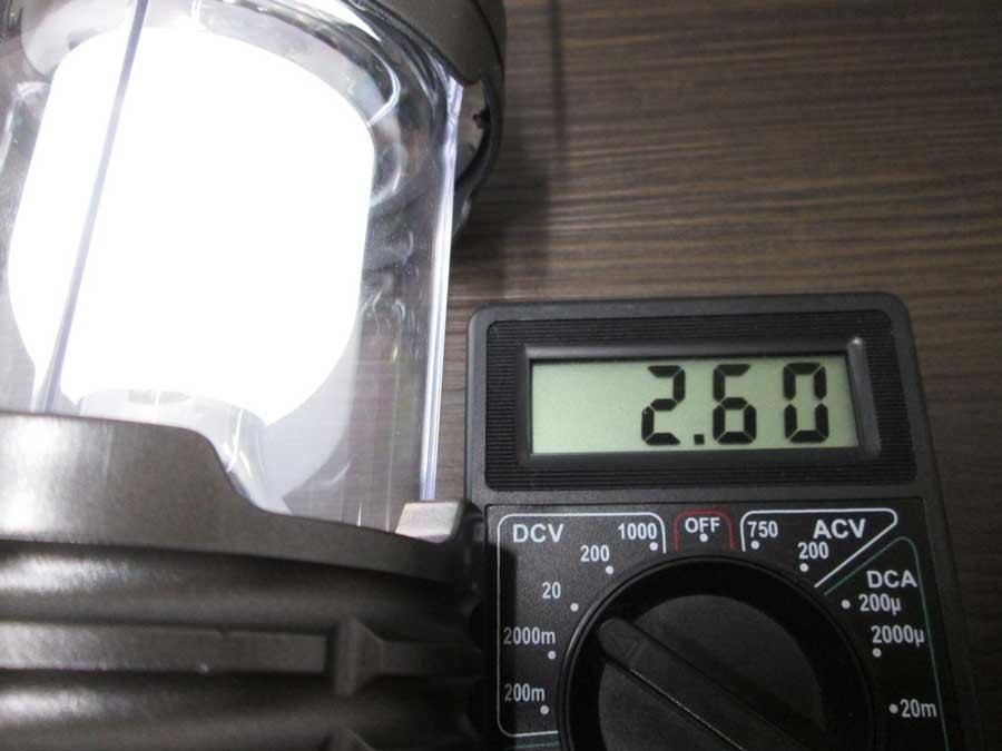 ダイソー 6SMD 伸縮ランタン 点灯実験16