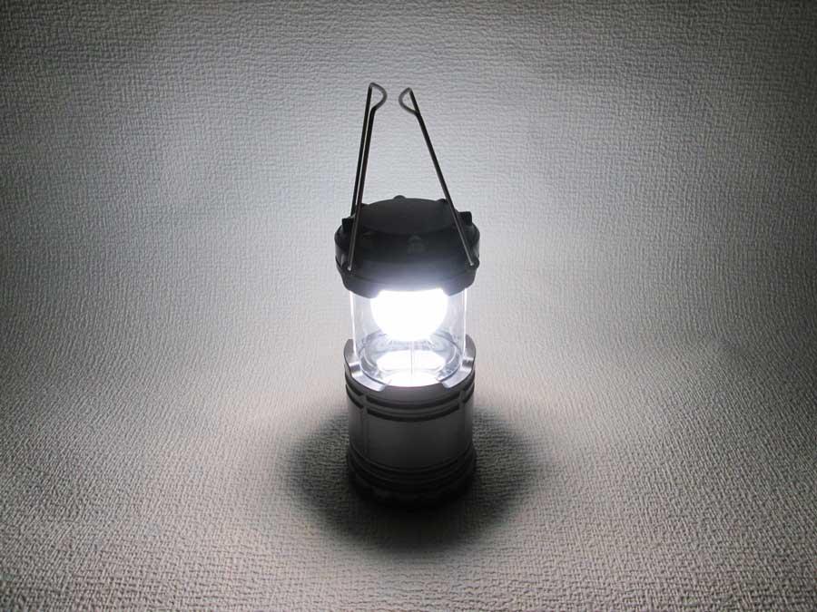 ダイソー 6SMD 伸縮ランタン 明るさ