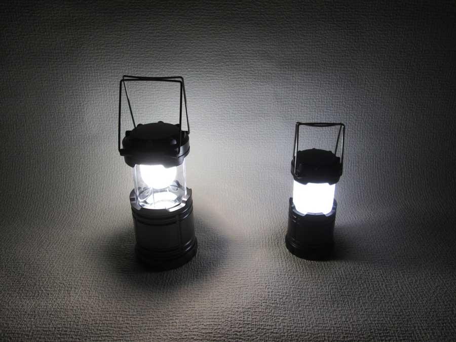 ダイソー 6SMD 伸縮ランタン 明るさ比較1