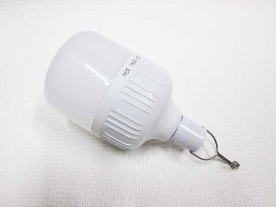 ダイソー 6SMD 伸縮ランタン 明るさ比較 30W