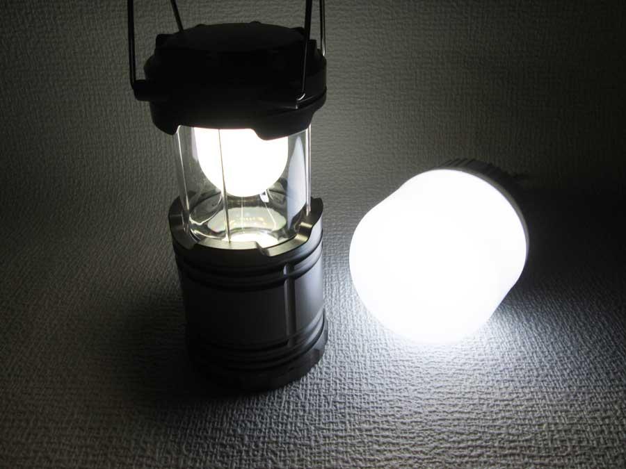 ダイソー 6SMD 伸縮ランタン 明るさ比較2