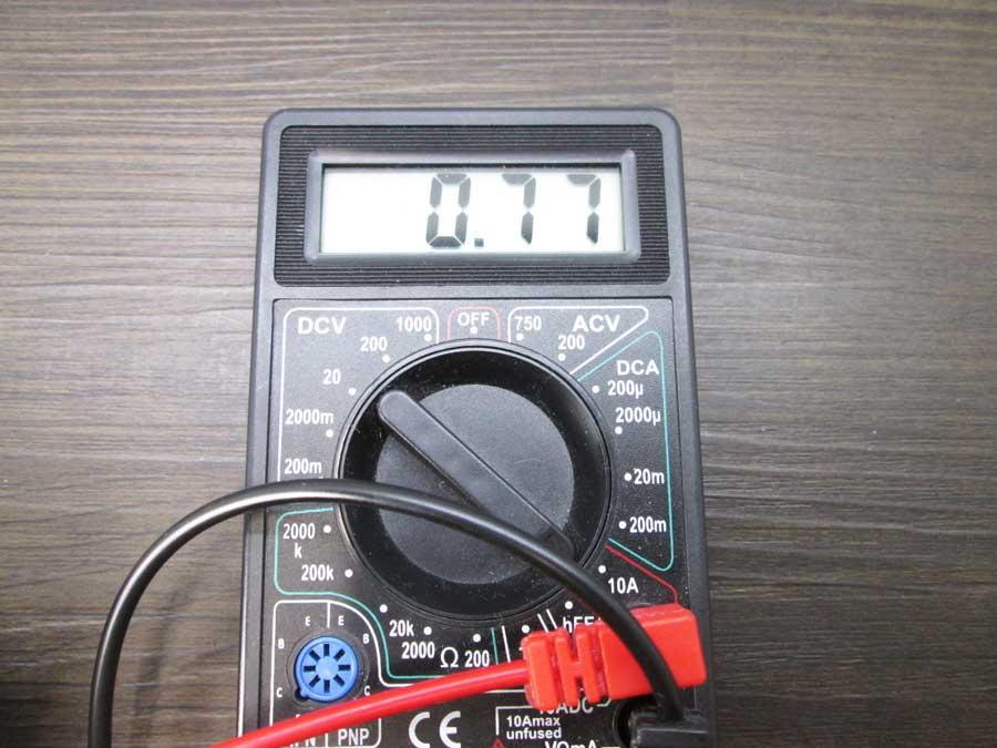 ダイソー 6SMD 伸縮ランタン 電流