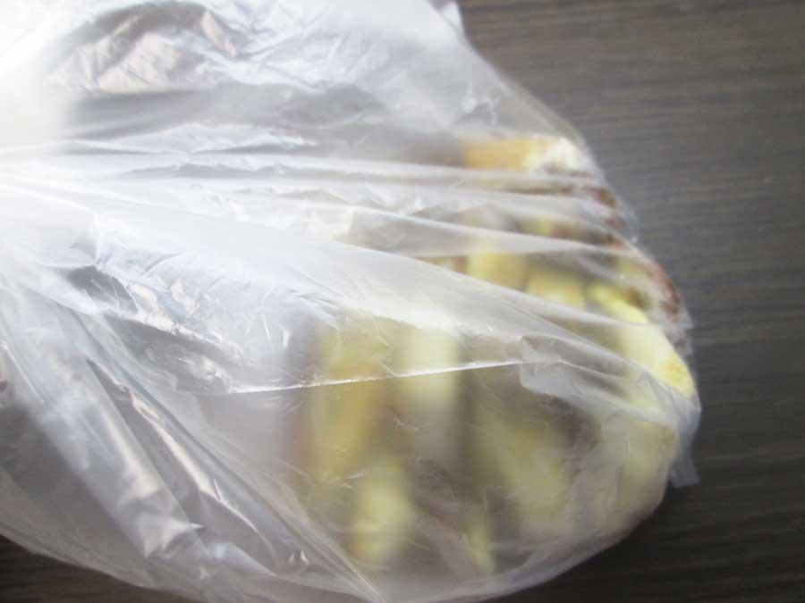 せんじ肉 作り方 豚ガツ 味付け ビニール袋2