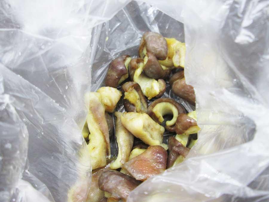 せんじ肉 作り方 豚ガツ 味付け ビニール袋3