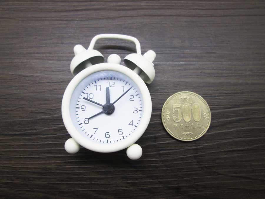 ダイソー ミニ目覚まし時計