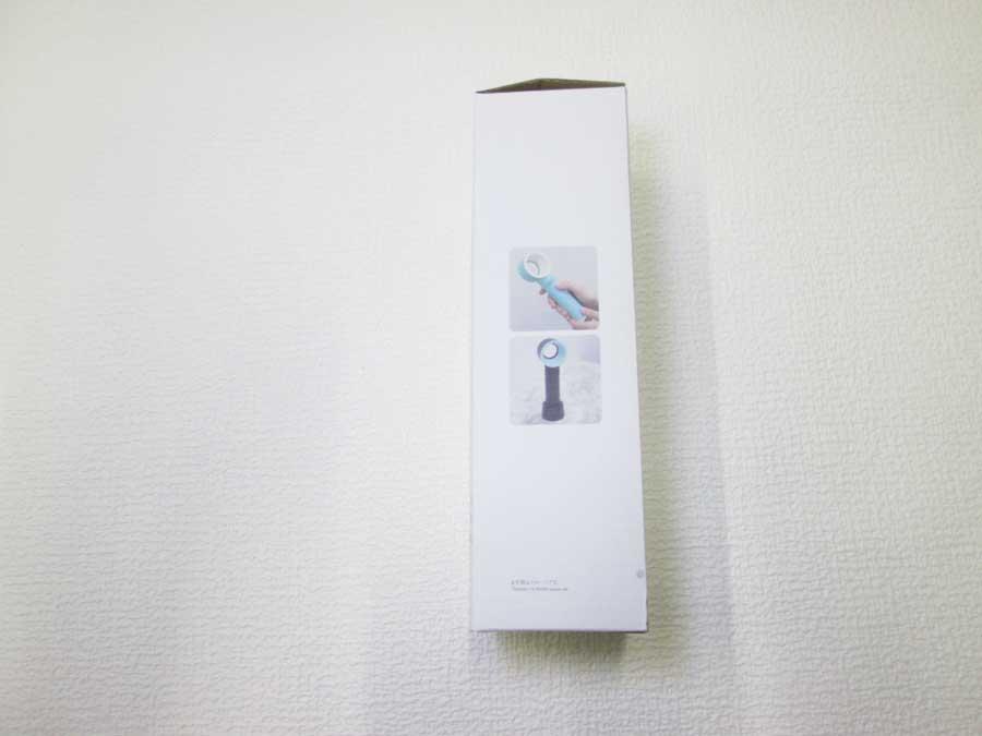 ダイソー 羽根なし扇風機 パッケージ側面