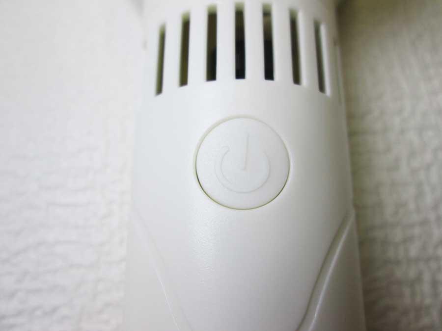 ダイソー 羽根なし扇風機 電源ボタン