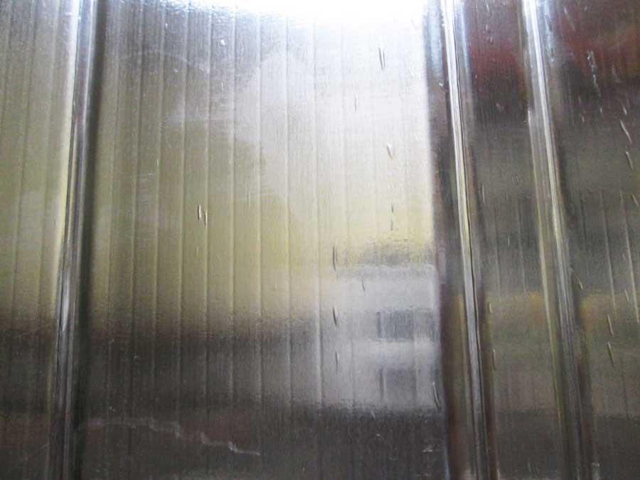 セリア 防風板 シングルバーナー 調理後表面