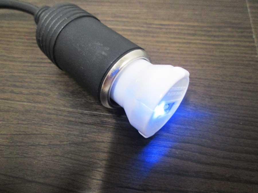 ダイソー USBタッチセンサーライト AC-DC変換3