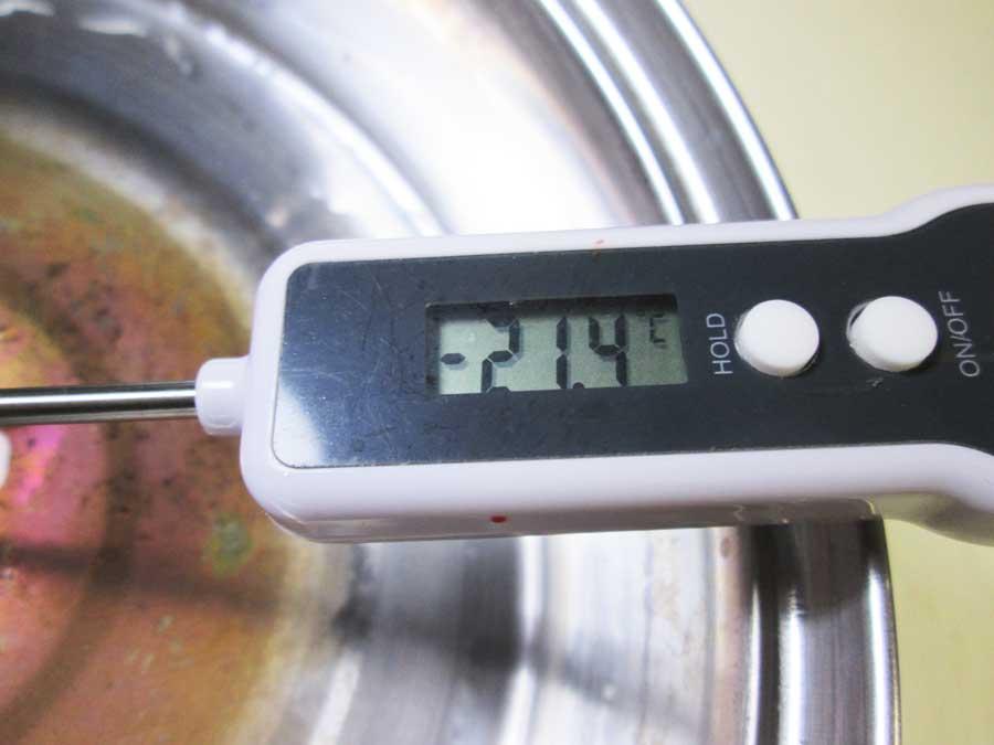 ダイソー デジタルキッチン温度計 ドライアイス4