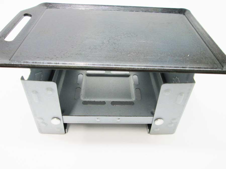 セリア ミニ鉄板 固形燃料ストーブ(ポケットストーブ)2