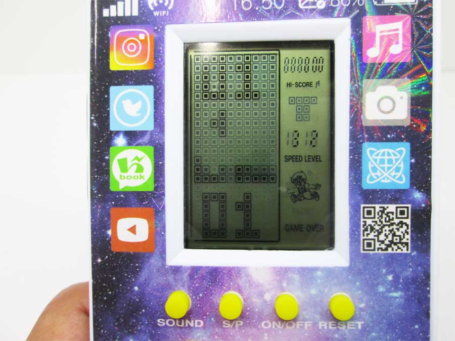 ダイソー LCDゲーム ブロックエックス 本体21
