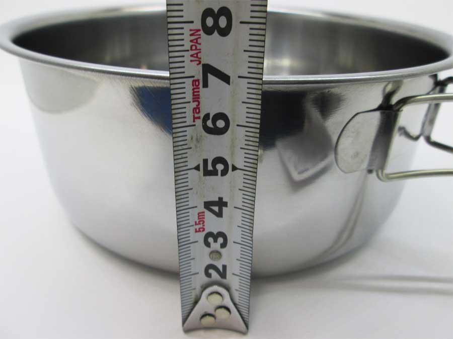 キャンドゥ 折りたたみ手付き鍋16㎝ 本体5