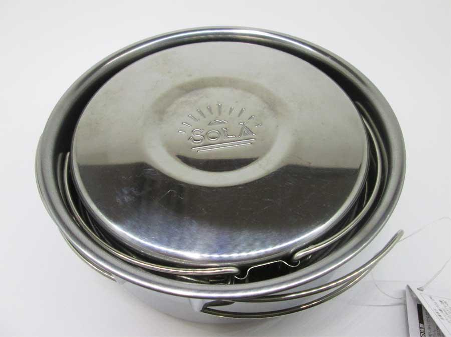 キャンドゥ 折りたたみ手付き鍋16㎝ 本体8