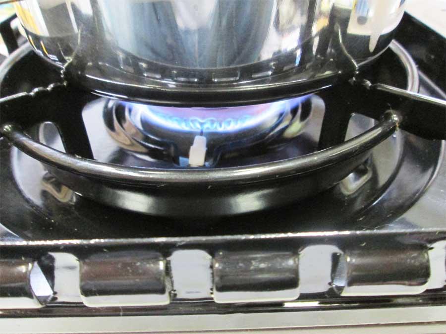 キャンドゥ 折りたたみ手付き鍋16㎝ 本体18