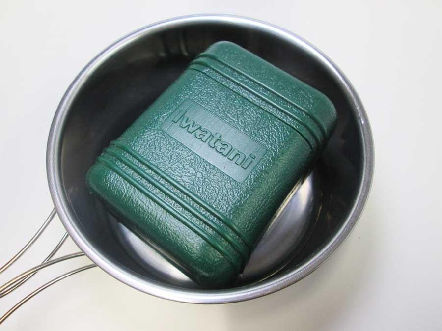 キャンドゥ 折りたたみ手付き鍋16㎝ 本体28