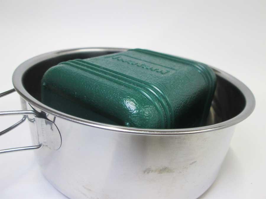 キャンドゥ 折りたたみ手付き鍋16㎝ 本体29
